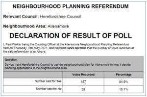 Result of referendum